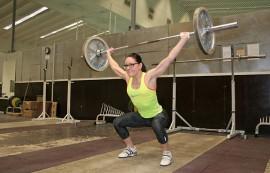 Asta Keskitalo treenaa painonnostoa 3-5 kertaa viikossa.