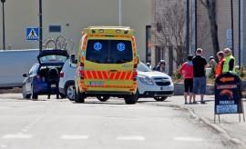 Onnettomuus tapahtui Kosken keskustassa. Kuva: Simo Päivärinta.