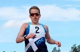 Henri Ansio oli puolimaratonin nopein. Ansion aika oli 1.15,18. Kuva: Kiti Salonen