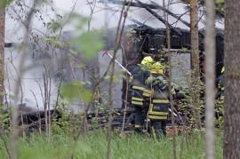 Tyhjillään ollut saunarakennus paloi lauantai-iltana Kyrössä. Kuva: Simo Päivärinta