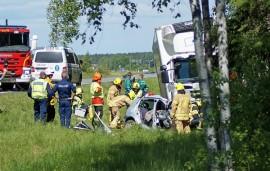 Ysitien onnettomuus vaati kaksi kuolonuhria. Kuva: Simo Päivärinta.