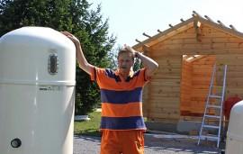 –Kun koppi on valmis, pääsemme asentamaan puhdistuslaitteita, kertoo Reijo Hartikka.
