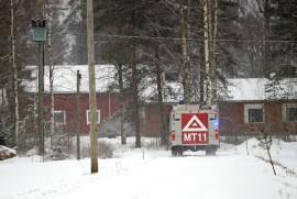 Marttilan VPK sai lämpökeskuksen palon ripeästi hallintaan. Kuva: Simo Päivärinta.