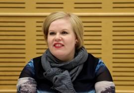 Annika Saarikko keräsi huiman äänipotin Auranmaalta ja koko maakunnasta. (kuva: Özkan Inhanli)