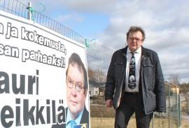 Lauri Heikkilä hamuaa jatkokautta eduskunnassa, jotta voi puolustaa maaseudun palveluita.