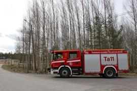 Mikäli Tarvasjoen paloasemahanke etenee suunnitelmien mukaan, tällä tyhjällä tontilla komeilee uusi paloasema vuonna 2017.