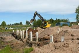 Hydoringin tehdaslaajennuksen rakennustyöt ovat alkuvaiheessa. Laajennus valmistuu ensi vuonna.