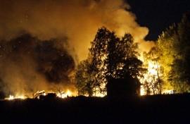 Halli tuhoutui palossa kokonaan. Kuva: Simo Päivärinta