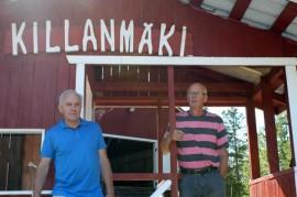 Ari Laine ja Kari Sävelkoski ovat olleet ahkerasti mukana Killanmäen kunnostustalkoissa.