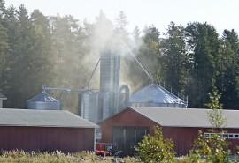 Kuivuripaloa taltutettiin Varsalavantiellä perjantaina aamupäivällä. Kuva: Simo Päivärinta.