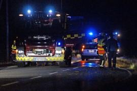 Auto ja valkohäntäpeura kolaroivat Marttilassa sunnuntaina kello 21:n jälkeen. Kuva: Simo Päivärinta