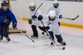 TarU Hockey käynnistää joulukuussa kiekkokerhon koululaisille. Kuva kyläkiekko-turnauksesta aiemmalta kaudelta. Kuva: Kimmo Karvinen