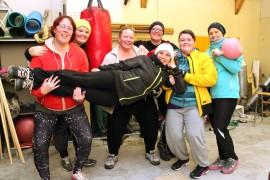 Kotlettien treeneihin sisältyy hikeä, naurua, ystävyyttä ja kannustusta.