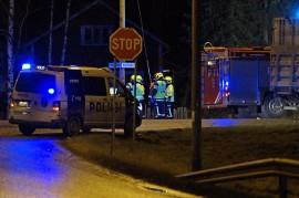 Iäkäs mieskuljettaja menehtyi henkilöauton ja kuorma-auton yhteentörmäyksessä. Kuva: Simo Päivärinta