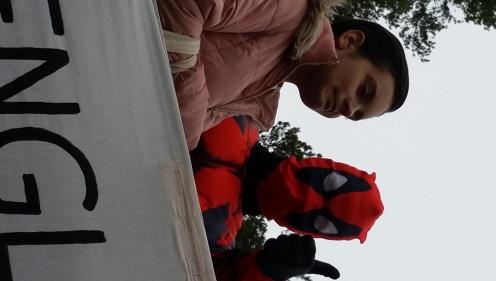 Lukijan kuva. Yesica Hernandez ja Samuli Ratas Kosken lukion penkkariajelulla. Kuvan otti Minna Ratas.