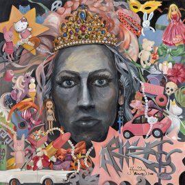 Johanna Oraksen teos Queen of F*cking everything on esillä Liipolan taidemuseon näyttelyssä.