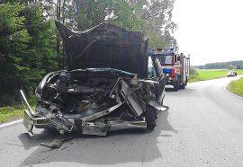 Nokkakolari johti kahden ihmisen loukkaantumiseen Kyröntiellä Marttilassa. Kuva: Simo Päivärinta.