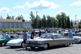 Kohauksessa nähdään tänäkin vuonna paljon hienoja autoja. Kuva:Kiti Salonen.