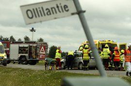 Onnettomuudessa loukkaantui yhteensä neljä henkilöä. Kuva: Simo Päivärinta.