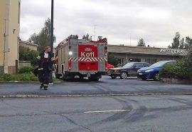 Palokunta pyörähti tiistaina Liikekoskessa. Kuva: Simo Päivärinta