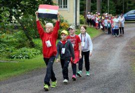 Auran Kirkonkulman koululla lukuvuosi on aloitettu olympiahengessä.