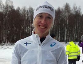 Annemari Kiekaran tuorein meriitti on maastojuoksun PM-pronssi. Kuva: Mika Kiekara.